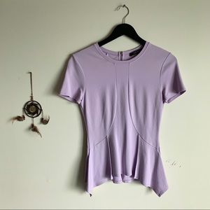 Pastel Purple BCBG Top with Zip Down the Back